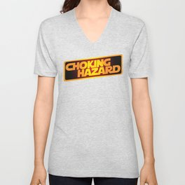 Choking Hazard Funny Unisex V-Neck