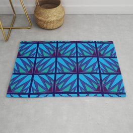 Decorative Purple Points Rug