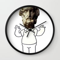 homer Wall Clocks featuring HOMER simpson by sharon
