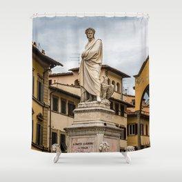 Dante Alighieri Statue Shower Curtain