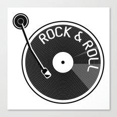 Rock & Roll Record Canvas Print