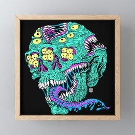 Skull Monster Framed Mini Art Print