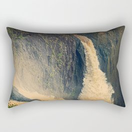 Barron Falls in retro style Rectangular Pillow