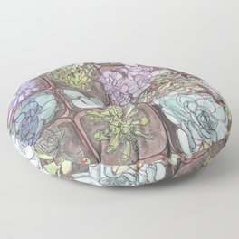 Succulents 1 Floor Pillow