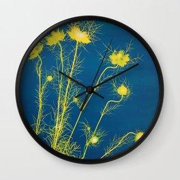 Photogram - Love in the Mist II Wall Clock