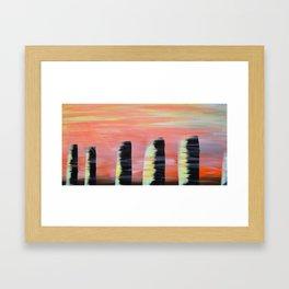 Monoliths Framed Art Print