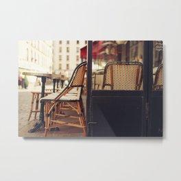 Paris Cafe Metal Print