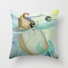 pirata bueno Throw Pillow