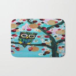 :: Gemmy Owl Loves Jewel Trees :: Bath Mat