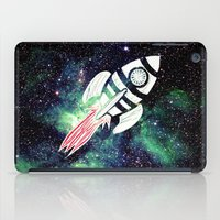 spaceship iPad Cases featuring Spaceship by Cs025