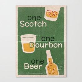Lindy Lyrics - One Scotch, One Bourbon, One Beer Canvas Print