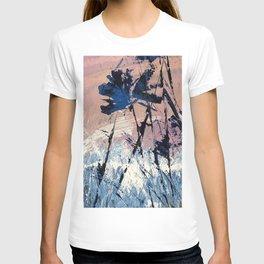 Abstract Flowers Blue Purple Field Lavender Landscape by Jodi Tomer T-shirt