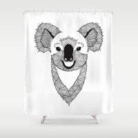 koala Shower Curtains featuring Koala by Art & Be