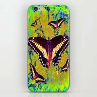 butterflies iPhone & iPod Skins featuring butterflies  by  Agostino Lo Coco