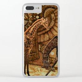Three Giraffes Clear iPhone Case