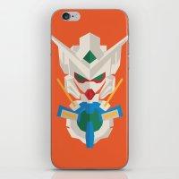 gundam iPhone & iPod Skins featuring gundam exia flat design by advino