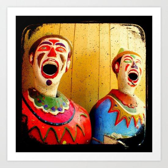 Carnival Clowns Art Print