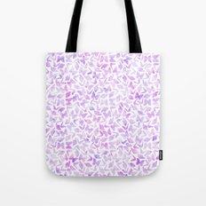 Purple Watercolor Butterflies Pattern Tote Bag