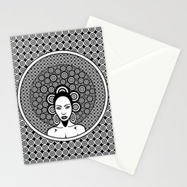Sixties woman black and white Stationery Cards
