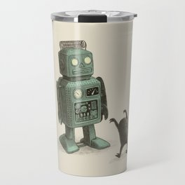 Robot Vs Alien Travel Mug