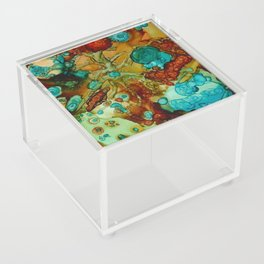 flora beginnings Abstract Acrylic Box
