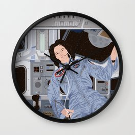 Sally Ride, first American woman in space Wall Clock