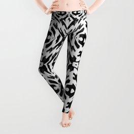 Arrow Tribe Black & White Leggings