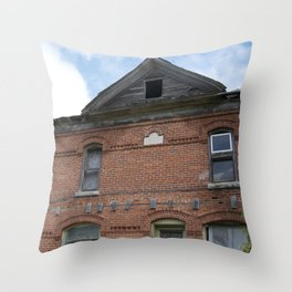 Red Brick Dreams Throw Pillow