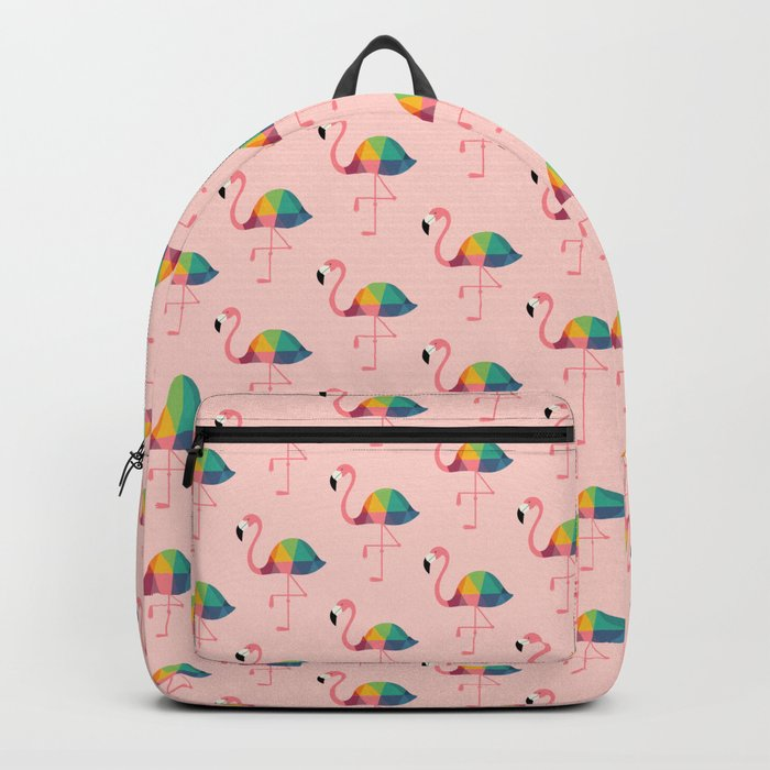Rainbow Flamingo Rucksack