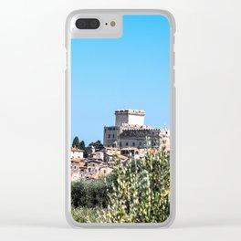 Sermoneta, a walled town Clear iPhone Case