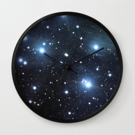 Pleiades (M45) (vertical version) Wall Clock