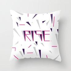 Rise No.2 - White Throw Pillow