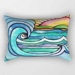 Beachy #society6 #spring #summer Rectangular Pillow