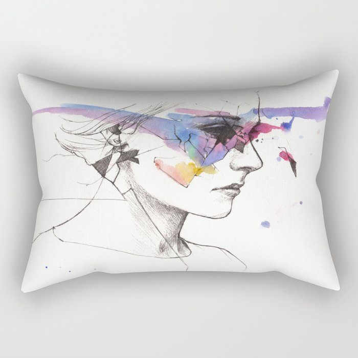 Woman With A New Vision Rectangular Pillow