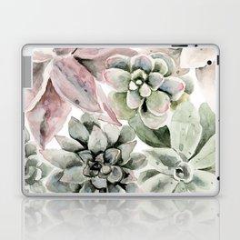 Circular Succulent Watercolor Laptop & iPad Skin