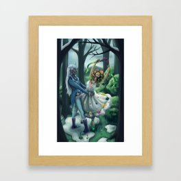 The Dance of Winter and Spring Framed Art Print