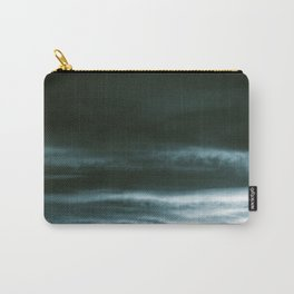 BLACK & BLUE & WHITE TOUCHING #3 #abstract #decor #art #society6 Carry-All Pouch