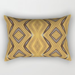 Yellow , Ochre and Brown Diamond Pattern Rectangular Pillow