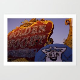 Golden Nugget Sign Art Print