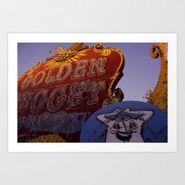 Golden Nugget Sign Art Print