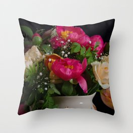 Colourful bouquet Throw Pillow