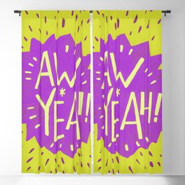 Aw Yeah // Yellow and Purple Blackout Curtain