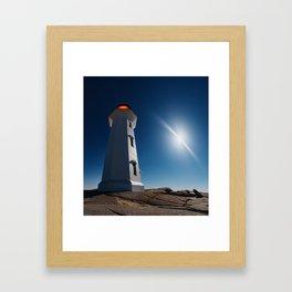Night Beacons Framed Art Print