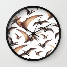 Realistic watercolor dinosaur Wall Clock