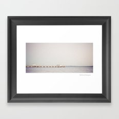 Woody Point Jetty Framed Art Print