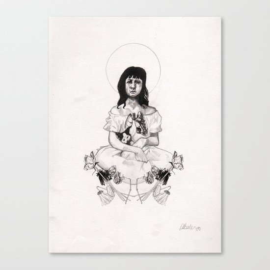The Girl With Half a Lung Canvas Print
