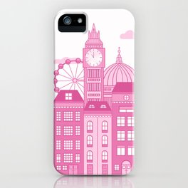 London Skyline Pink iPhone Case