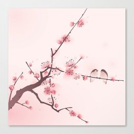 Oriental cherry blossom in spring 005 Canvas Print