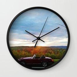Little Car Big Sun Wall Clock
