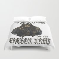 thorin Duvet Covers featuring Uncle Thorin by AlyTheKitten